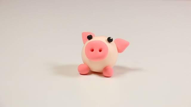 【天使团】亲子手工 |粉红的小猪