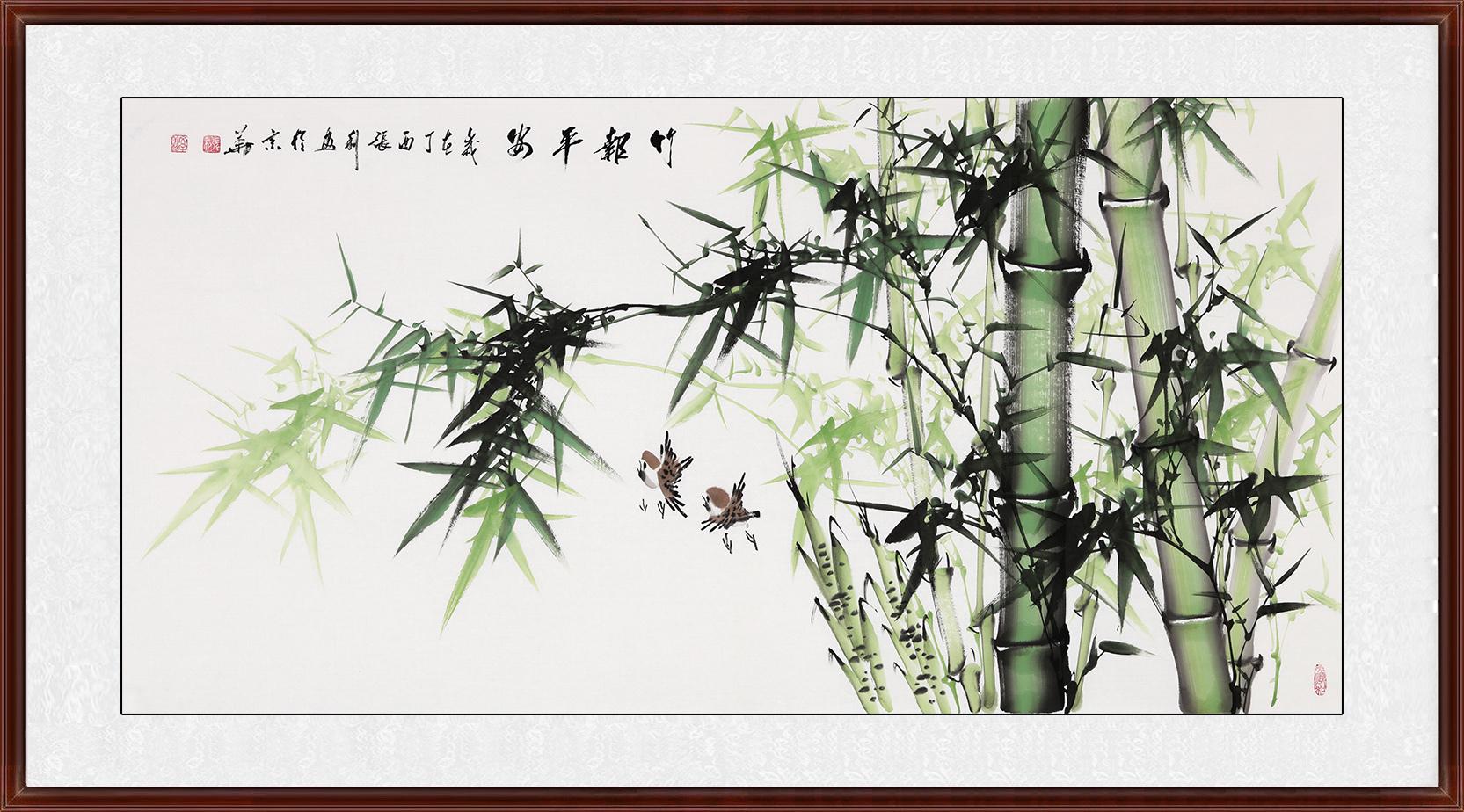 张利【新品】国画竹子图《竹报平安》作品出自:易从网