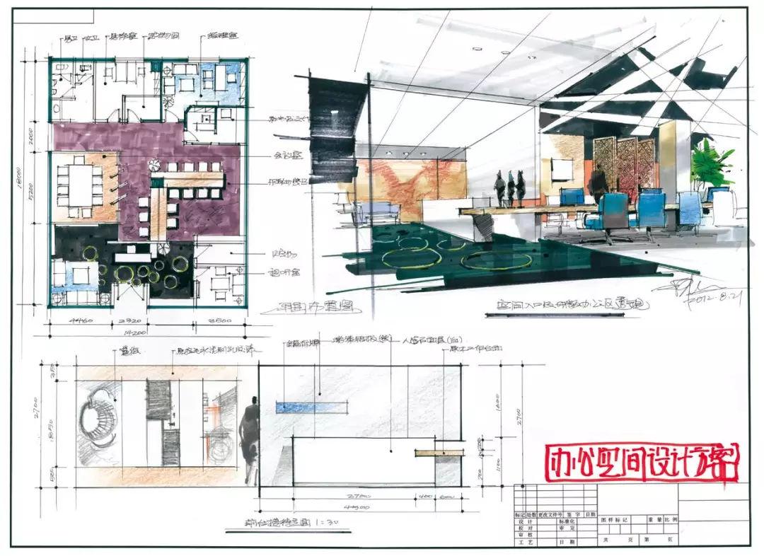 办公空间快题设计 ▲陈红卫图片