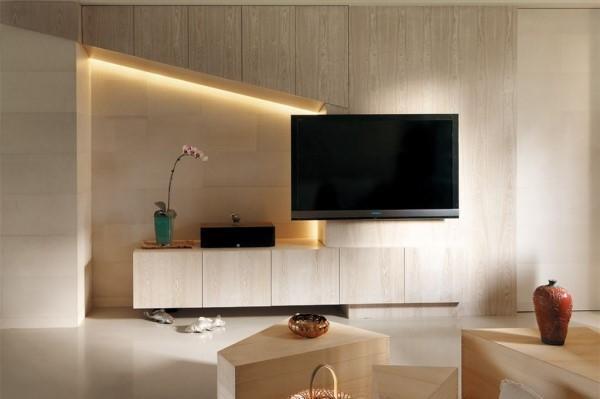 木地板上墙后太美了,电视背景墙,沙发背景墙和床头背景墙都能用