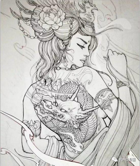 艺伎动漫手绘画