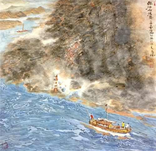 一路走来:郑友深素描·重彩山水作品欣赏