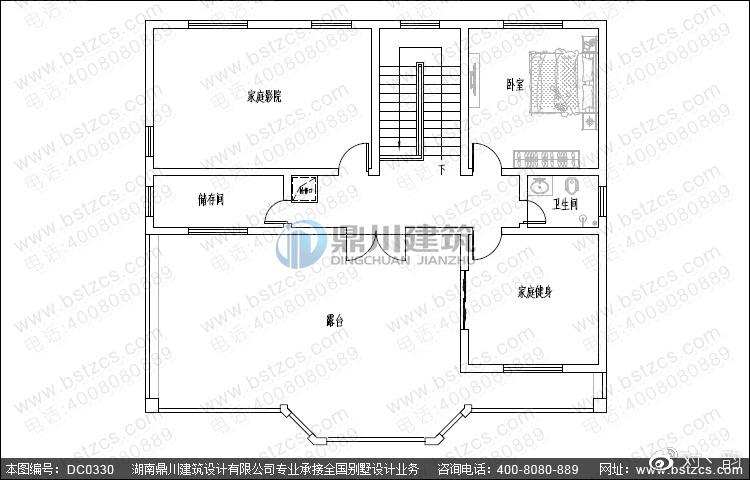 四层复式v复式_园林四层带露台别墅农村300别墅设计图平图片