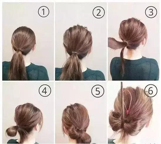 时尚 正文  盘发步骤图解: 1,首先将头发扎成一个低马尾,头顶的头发拉