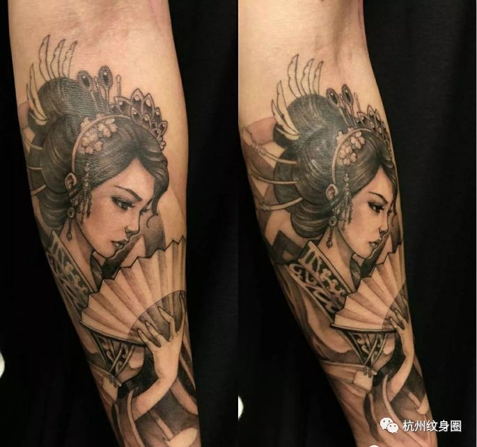 tattoo   纹身素材:日本艺伎图片