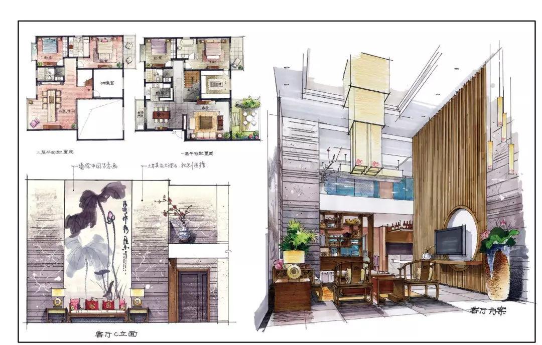 别墅空间快题设计 ▲潘俊杰