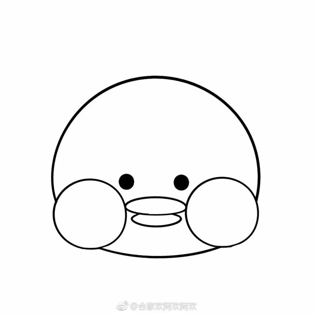 简笔画教程 | 简单版玻尿酸鸭