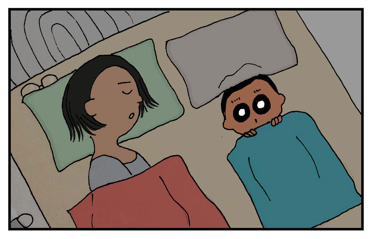 失眠睡不着图片