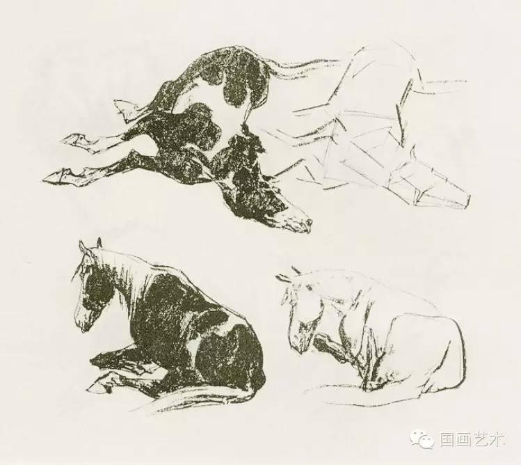 中国画技法入门 怎样画马图片
