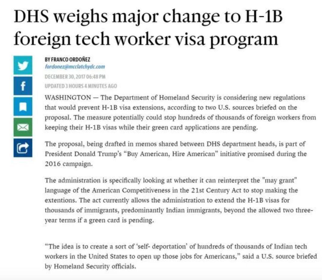 """美国移民""""凛冬已至"""",特朗普拿H1B开刀!"""