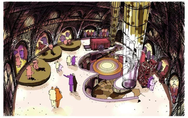 别人家的手绘板:他笔下的空间狂想美得不可思议!