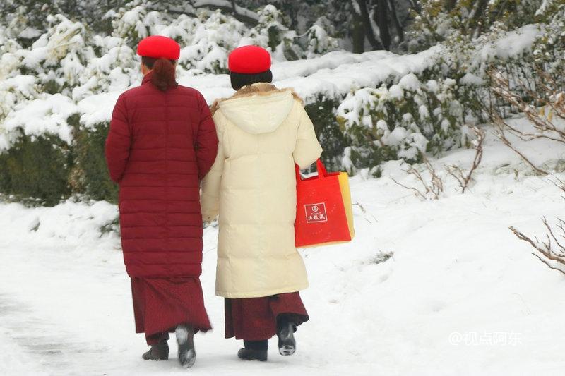 西安下起2018年第一场大雪  美景悦目出行难 - 视点阿东 - 视点阿东
