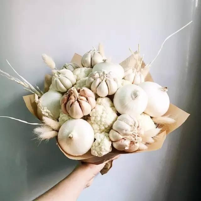 设计| 蔬菜水果花束,花前月下柴米油盐两不误