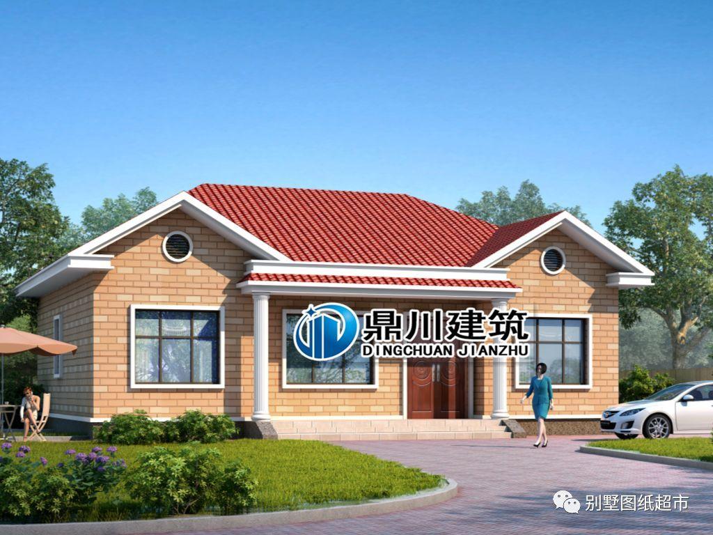 2卧室,卫生间 实用经济型一层小别墅 编号:dc0371 层数:一层 开间:14