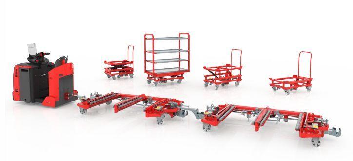 视频中的模块化拖车系统由专注设计和生产创新机械内部物流系统的图片