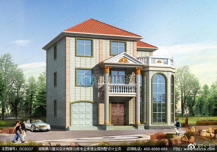 复式别墅设计_复式三层带车库露台别墅设计效果图纸图片