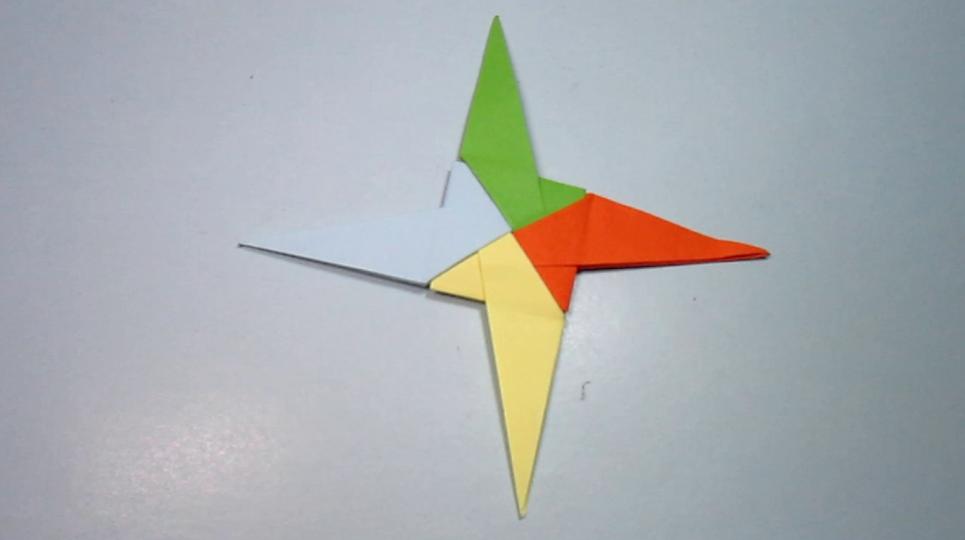 2分钟就能学会飞镖的折法 简单的手工折纸飞镖