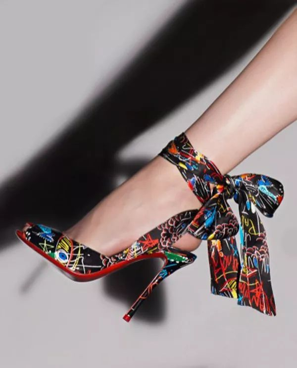 58d11fb42c92 Christian Louboutin Jersey Vamp open-toed high heels Loubitag