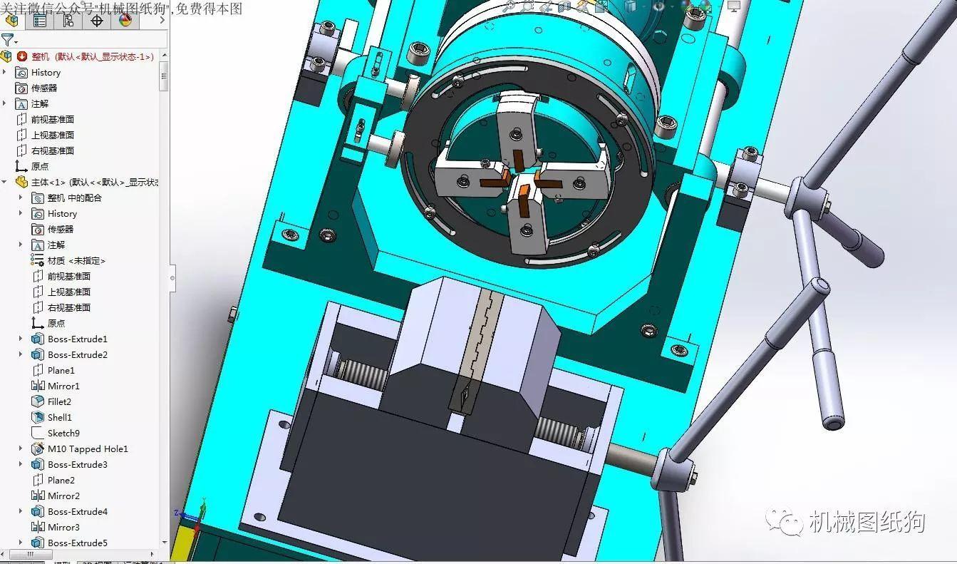 【工程机械】滚螺纹机床3d数模图纸 solidworks设计