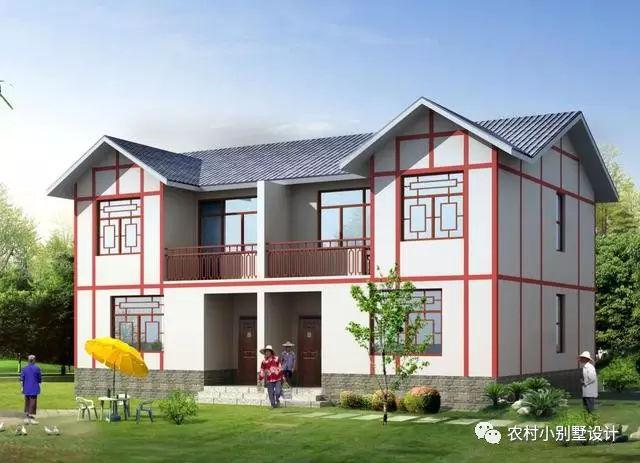 本套   双拼别墅设计图   很多有两兄弟的   农村   家庭自建