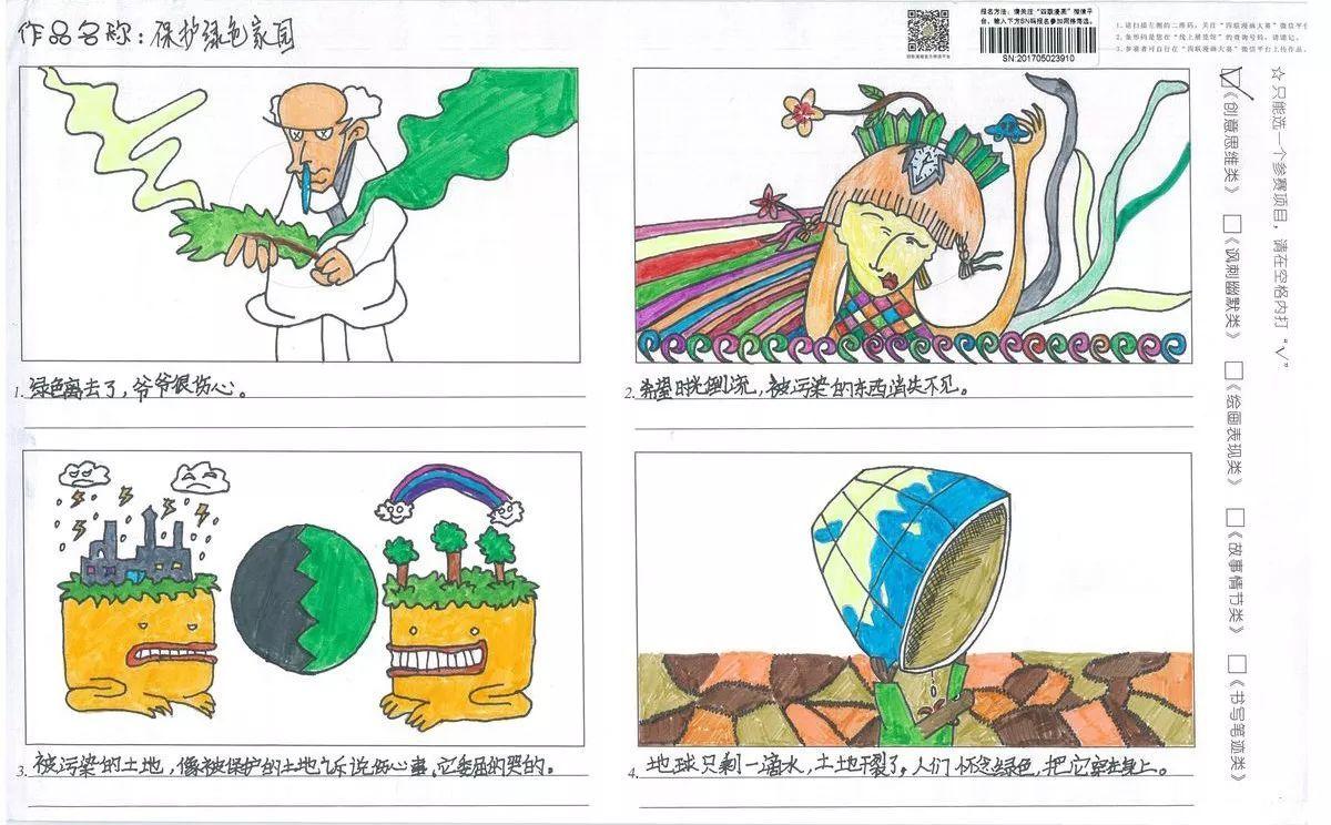 【创意思维类银奖】第五届国际环保四联漫画大赛作品展示