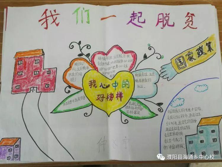 孩子们为扶贫活动画的手抄报
