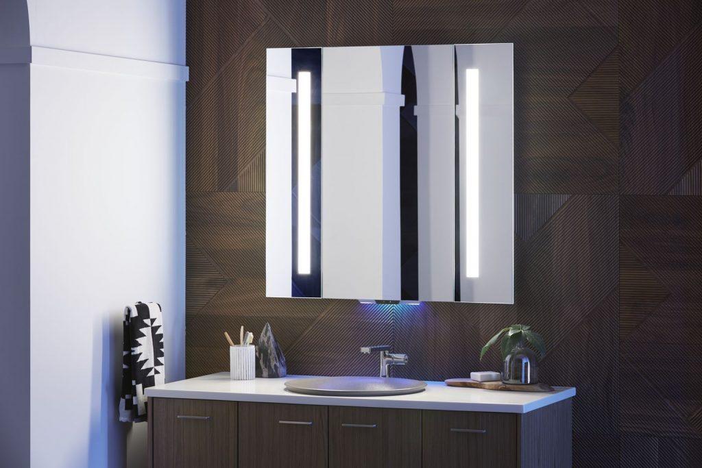 科勒的智能镜子成为家庭控制中心,能操控浴室