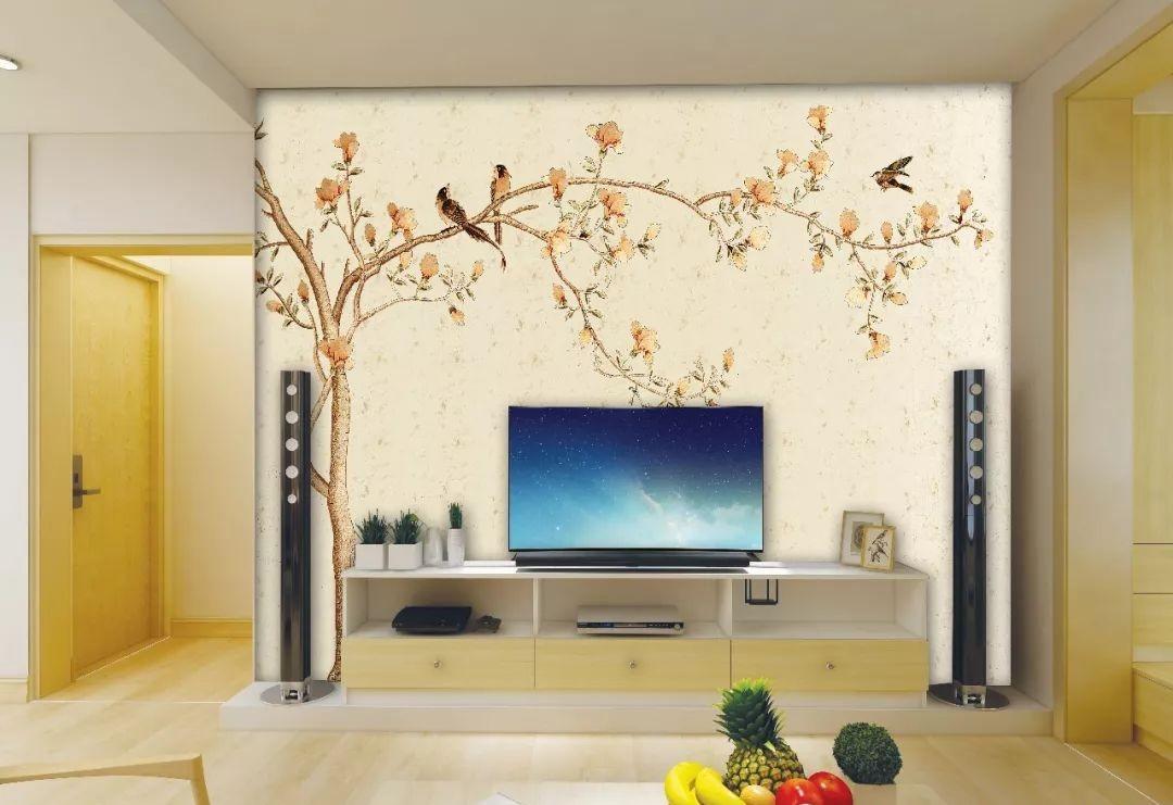 如果打算装修新中式风格的家庭,可以参考下: 桃花造型的背景墙是我们图片