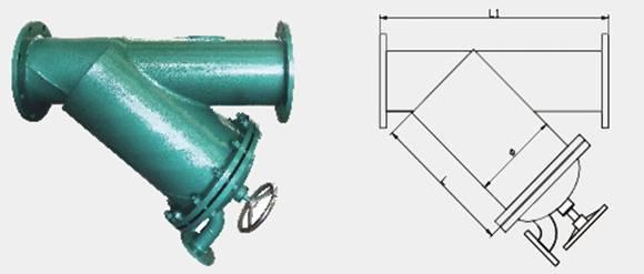 手摇刷式过滤器结构图片