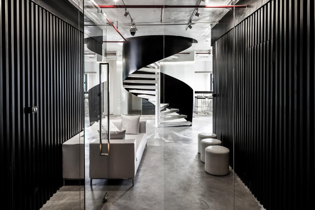 重庆工业风办公室装修效果图_重庆江北办公室装修设计