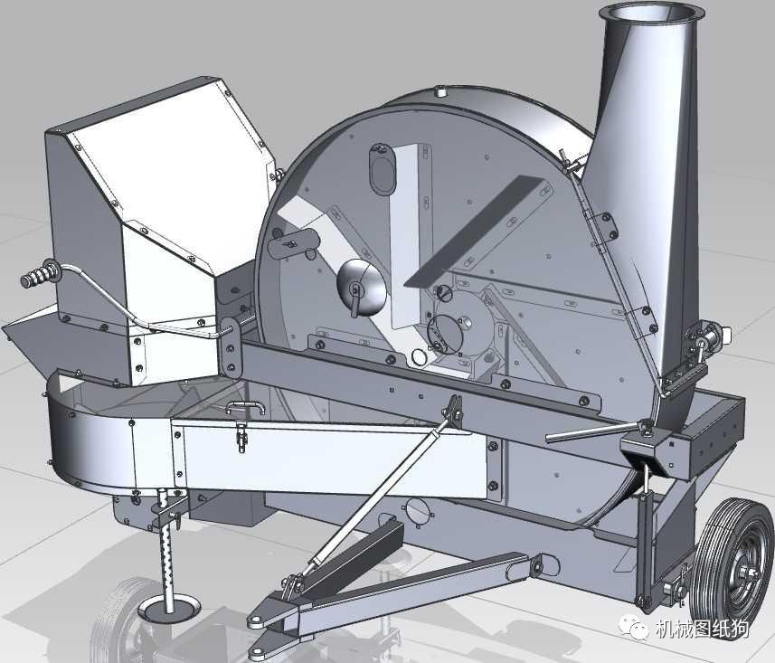 【工程机械】饲料鼓风机3d模型图纸 ug设计