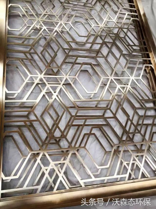 我司专业定做焊接各种铝合金方管窗花屏风格子,融合古典韵味的仿古图片