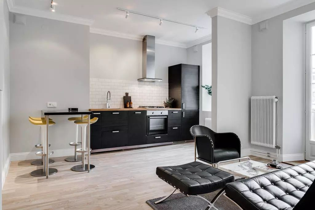 54平长方形艺术气质单身公寓,就不信没有撩到你!