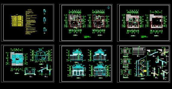自建房cad别墅设计图下载