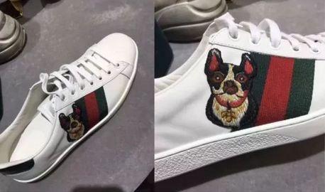 热门的小白鞋也不能放过,萌萌哒的小狗,是不是比小蜜蜂更可爱呢?图片