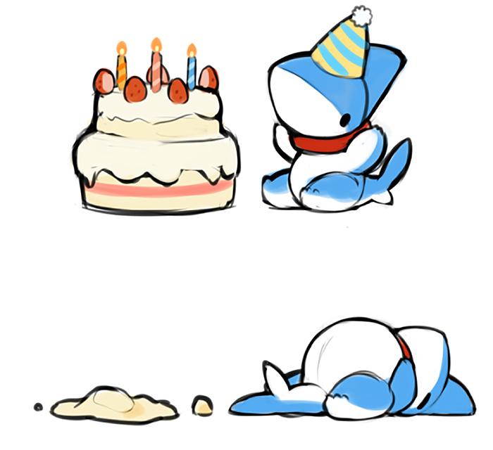 14 张鲨鱼宝宝的漫画,可爱化了,快拿我的氧气瓶来!图片
