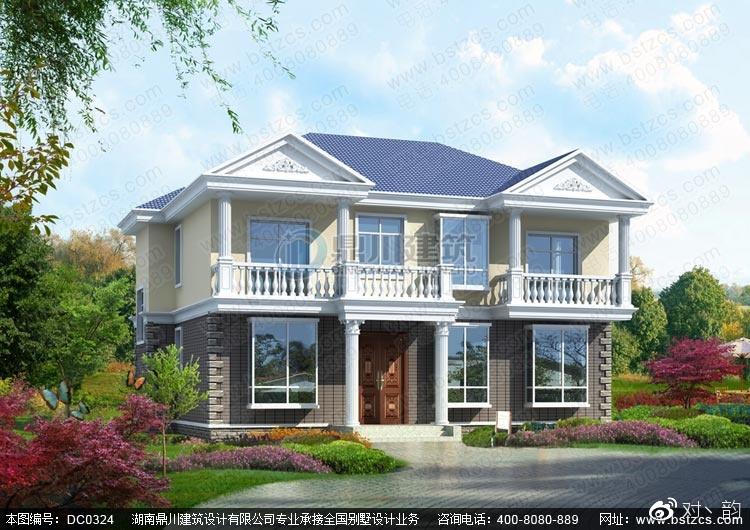 二层别墅设计 二层农村自建带阳台小别墅设计图