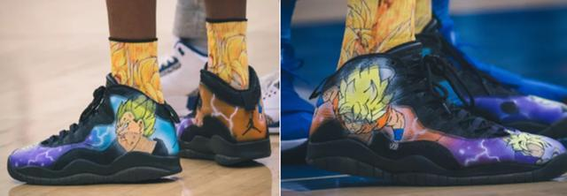 奥胖的儿子定制龙珠球鞋闪瞎眼!看看NBA球员各种拉轰球鞋,莆田精仿鞋,莆田高仿鞋,高仿运动鞋