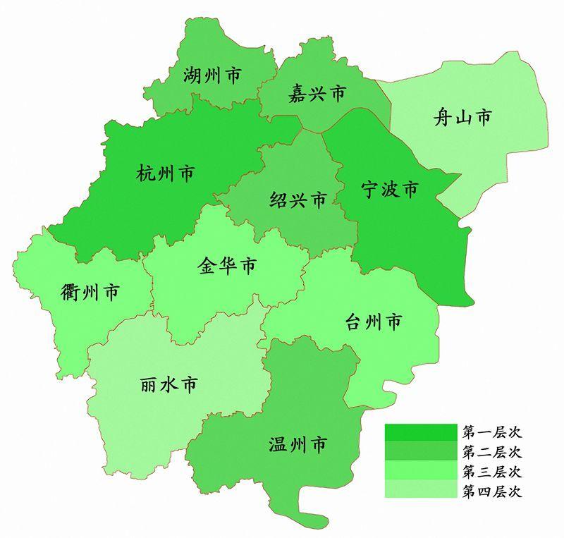 2017浙江省小微企业综合创新指数排名区域分布图图片