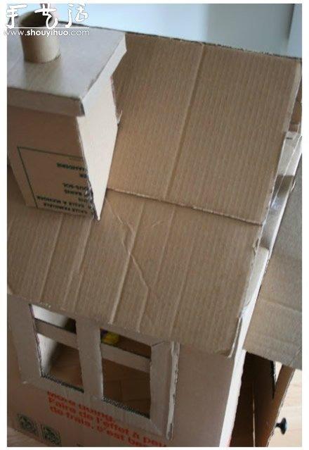 房子手工diy 好玩的纸板箱
