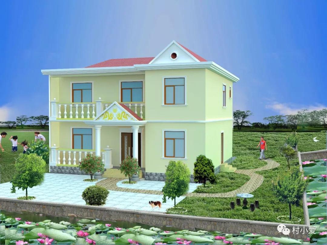 """10x8m田园式农村别墅,在大自然中安家,品悟""""成熟""""的美丽"""