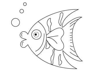 动物简笔画 鱼 鱼的简笔画图片 世界上现存已发现的鱼类约二