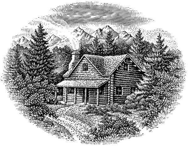 素描立体简笔画房子