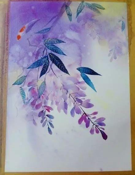 小央美美术教育 绘画教程 唯美梦幻花卉水彩画法,详细步骤图