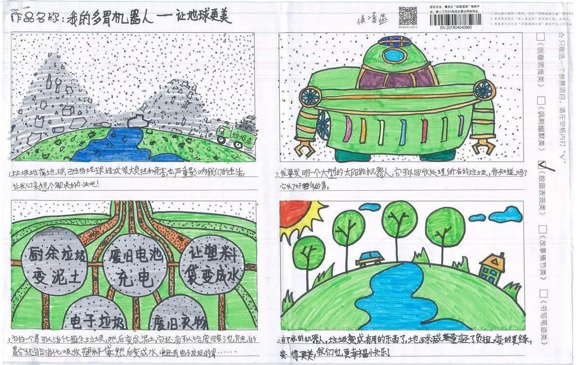【蓝色表现类绘画】第五届漫画环保四联海湾v蓝色作品展示漫画银奖国际图片