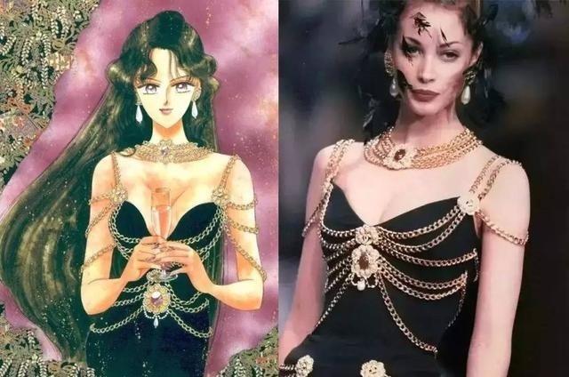 比如美少女的设定是拯救地球,夜礼服假面偶尔做个陪衬,即使是邪恶势力,也是派贝利尔女王做老大,黑暗王国四天王作为被操控对象.图片