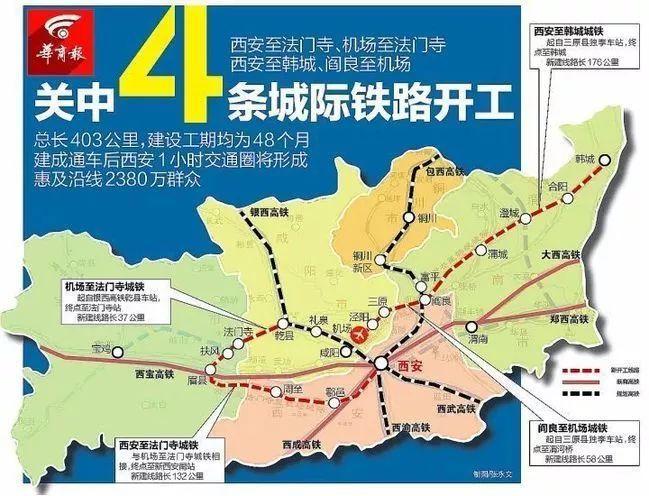 """交通规划要翻天!联结汉中,渭南,咸阳,大西安打造""""一小时""""经济圈!"""
