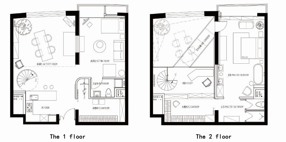 圆形客厅平面图