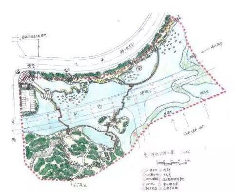 览川路湿地公园平面图