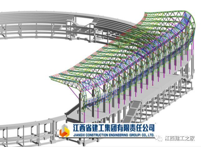 体育馆钢结构模型